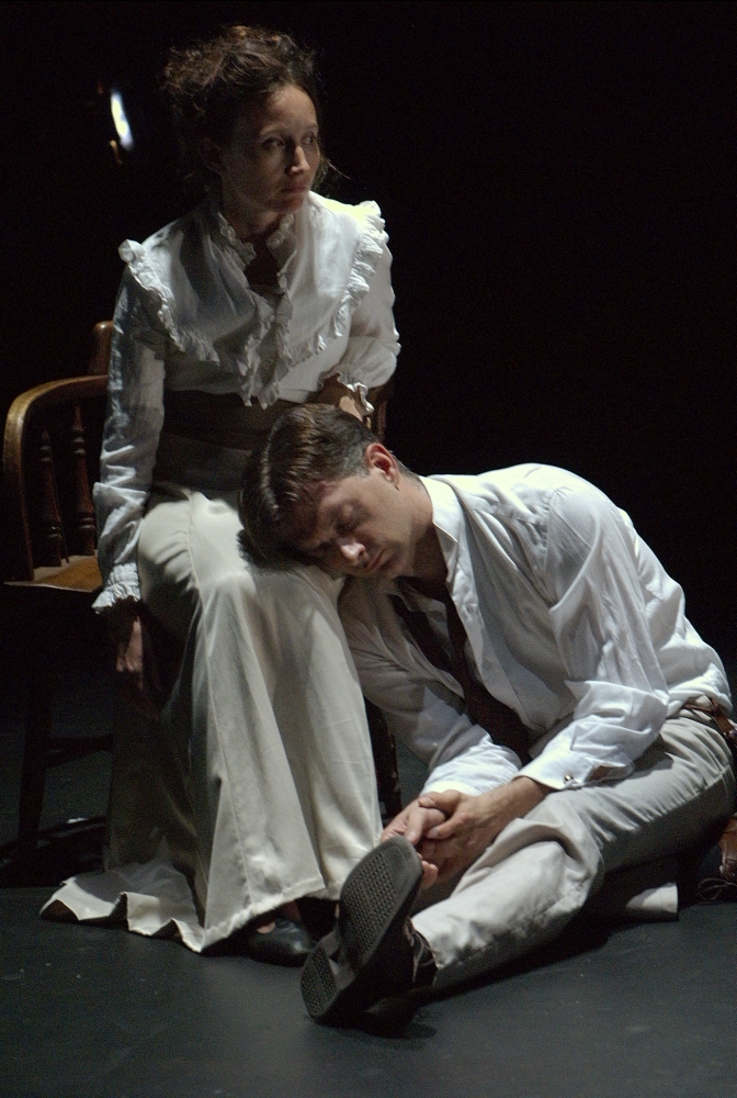 31 - Mary Sheridan and Michael Frederic in Summer and Smoke by Tennessee Williams directed by Tlaloc Rivas; photos taken by Claudia Acosta